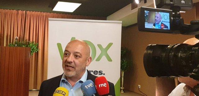 """26M-A.- Rodríguez (Vox): """"El sondeo de IB3 supondría una entrada con mucha fuerza en las instituciones de Baleares"""""""