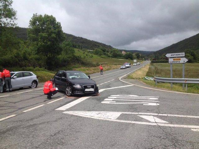 Sucesos.- Atropellado un peregrino del Camino de Santiago en un accidente con tres vehículos implicados