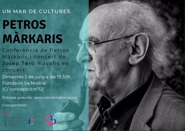 Organizan en Baleares la conferencia 'Un Mar de Cultures', del escritor griego Petros Márkaris