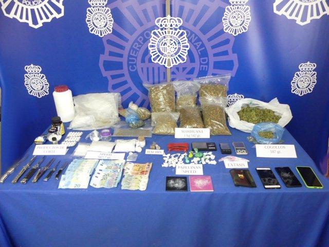 Sucesos.- Desarticulado un grupo organizado de venta de droga de diseño en zonas de ocio nocturno de Salamanca