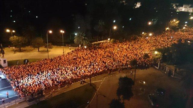 Carrera nocturna de Sevilla.
