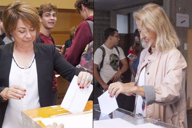 Rosa Aguilar y Gloria Rojas, a la segunda vuelta en las elecciones a rectora de la ULL