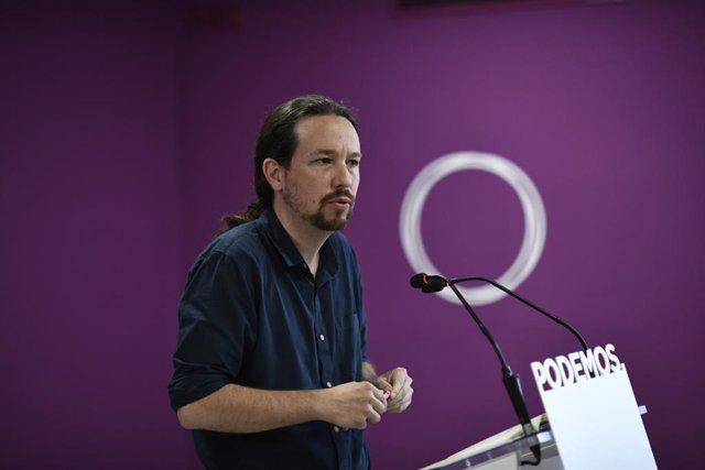 Roda de premsa d'Unides Podem després dels resultats electorals del 26