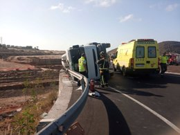 Camión accidentado