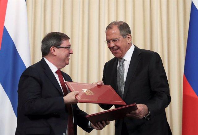 Cuba.- Lavrov ratifica a Rodríguez el apoyo de Rusia a Cuba tras la plena vigencia de la Ley Helms-Burton