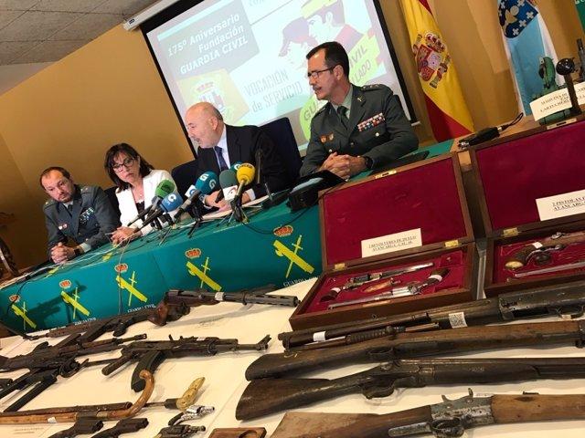 Retirado de la circulación uno de los mayores arsenales de Galicia con 84 armas y 3.411 cartuchos metálicos