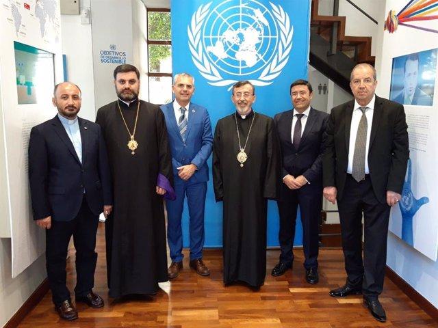 Málaga.- El representante de la Iglesia Armenia en Europa Occidental, Khajag Barsamian, visita la sede de Cifal Málaga