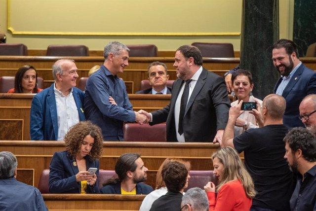"""ERC constituye en el Congreso el """"Grupo Republicano"""" y en el Senado se unirá con Bildu"""