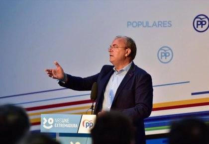 """Monago indica que en Cáceres y Badajoz el PP y Cs tienen """"más cosas en común"""" que la formación naranja y el PSOE"""