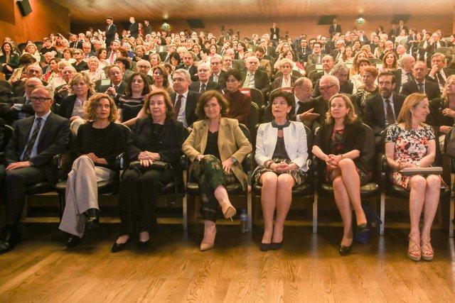 Homenaje a José Pedro Pérez-Llorca en el auditorio del Museo del Prado