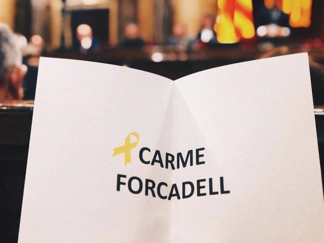 JxCat, ERC i la CUP voten simbòlicament a Forcadell com a vicepresidenta del Parlament