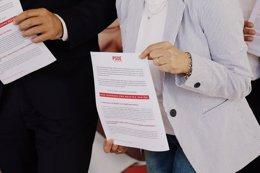 Imagen del documento con los diez pactos que propo