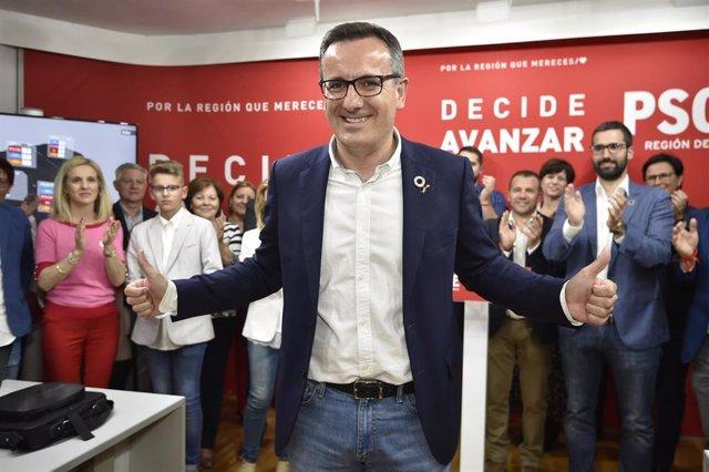 """26M-A- Conesa (PSOE) se ve con fuerzas  para liderar el cambio en solitario en Murcia y dialogará """"hasta la extenuación"""""""