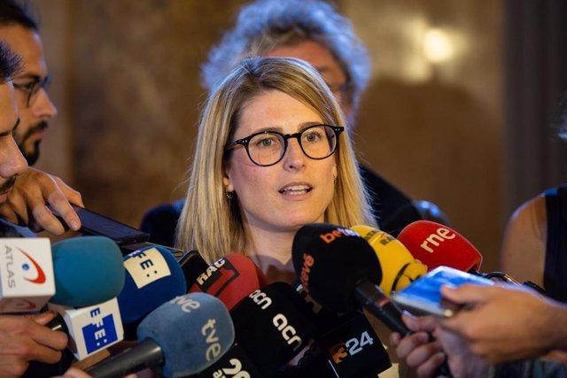 El candidat d'ERC a l'Alcaldia de Barcelona, Ernest Maragall, es reuneix amb Elsa Artadi (JxCat) per negociar pactes post electorals