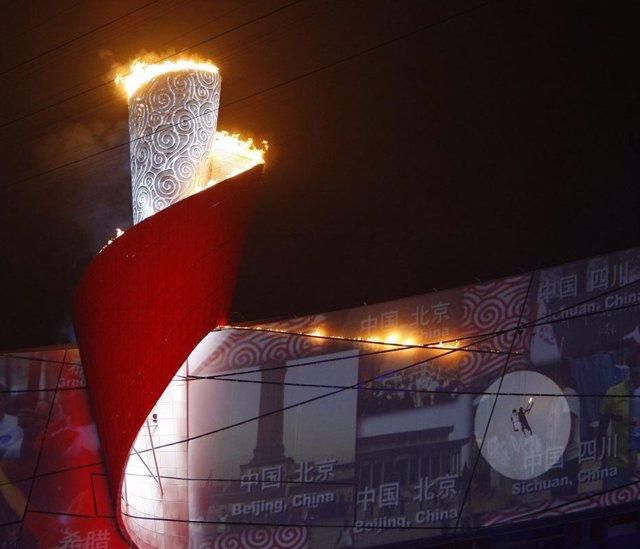 Recurso del encendido de la llama olímpica en Beijing 2008