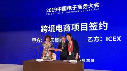 ICEX y JD.com firman un acuerdo para impulsar la venta online de productos españoles en China