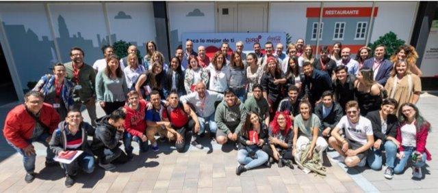 Coca-Cola European Partners celebra 'Speed Dating', una sesión para capacitar a 85 participantes de GIRA Jóvenes