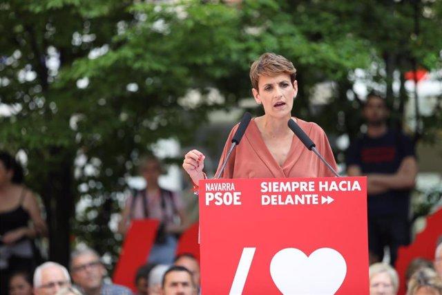 """26M.- Chivite (PSN) propone """"una fiscalidad justa y progresiva"""" y devolver el IRPF de las prestaciones de maternidad"""