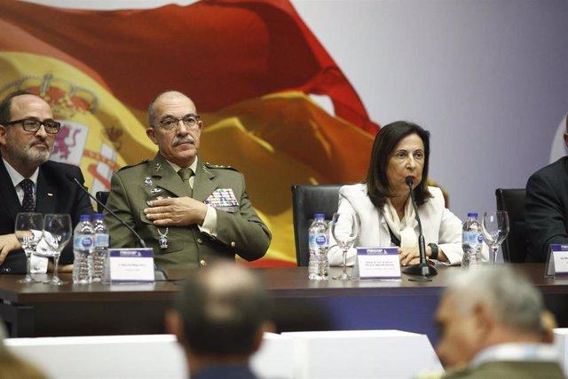 Inauguración de la primera Feria Internacional de Defensa y Seguridad (FEINDEF) en IFEMA