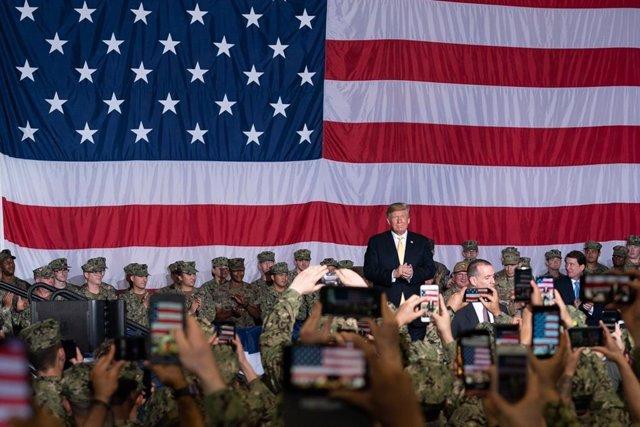 Trump aboard USS Wasp