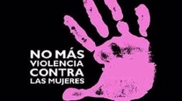 Cartel contra la violencia machista.
