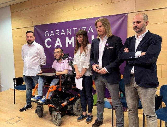 """26M.-Fernández recuerda que Podemos no tiene """"mochila"""" mientras PP, Cs y PSOE se """"van a deber"""" a quienes les financian"""