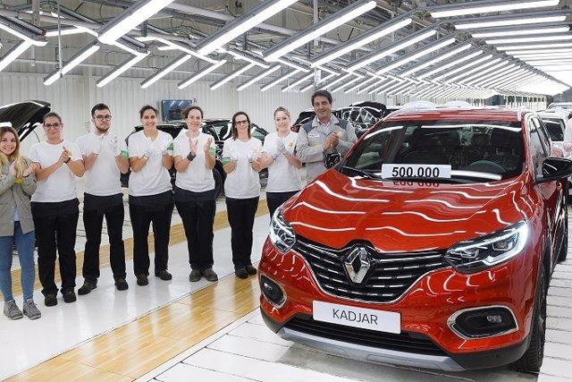 Economía/Motor.- Renault alcanza en su planta de Palencia medio millón de unidades producidas del Kadjar desde 2015