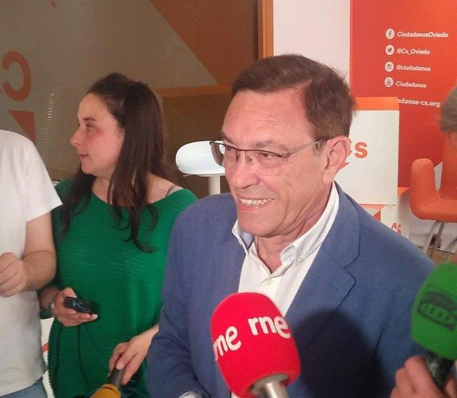 """26M.-Vázquez Afirma Que Su Pretensión Es Que Ciudadanos Contribuya A """"Centrar"""" El Gobierno De Adrián Barbón (PSOE)"""