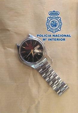 Granada.- Sucesos.- La Policía Nacional localiza y detiene a un hombre gracias al reloj que perdió en un atraco