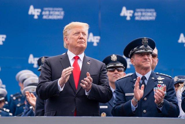 Trump attends USAF Academy graduation ceremony