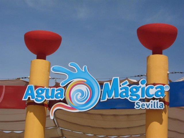 Entrada del nuevo parque acuático de Isla Mágica, Agua Mágica