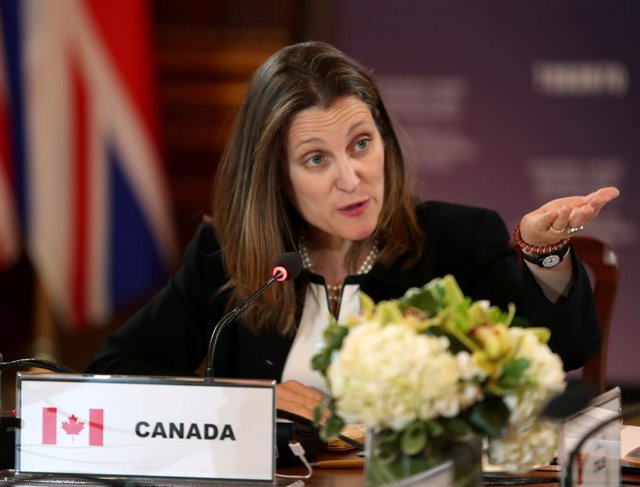 La ministra de Exteriores de Canadá, Chrystia Freeland
