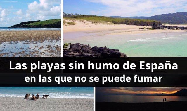 Las playas sin humo de España en las que no se puede fumar