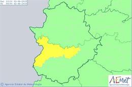 Extremadura inicia el mes de junio con un aviso por riesgo de calor en las Vegas del Guadiana