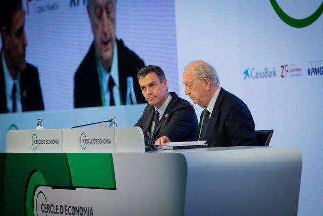 Clausura de la XXXV Reunió del Cercle d'Economia amb el seu president, Juan José Brugera, i el president del Govern en funcions, Pedro Sánchez