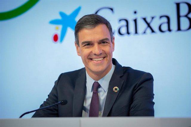 Clausura de la XXXV Reunión del Círculo de Economía con su presidente, Juan José Brugera, y el presidente del Gobierno en funciones, Pedro Sánchez