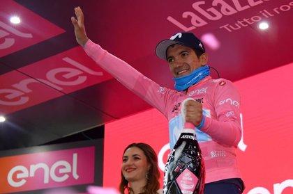El ecuatoriano Carapaz se queda cerca de ganar el Giro de Italia tras una caótica etapa en los Dolomitas