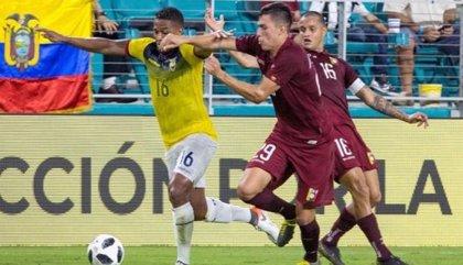 Ecuador empata con Venezuela en un partido amistoso previo a la Copa América
