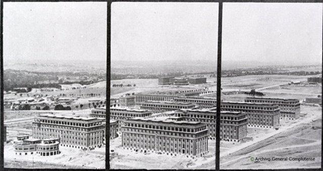 UCM digitaliza 200 negativos fotográficos sobre reconstrucción de la Ciudad Universitaria tras Guerra Civil
