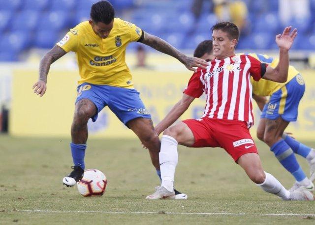 Sergio Araujo, durante un partido con la UD Las Palmas.