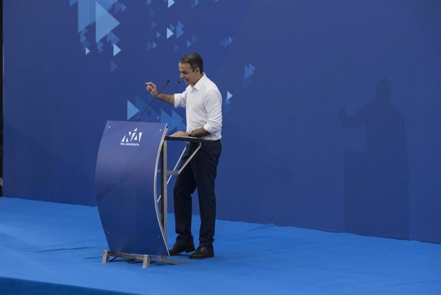 Greek opposition leader EU elections campaign in Athens
