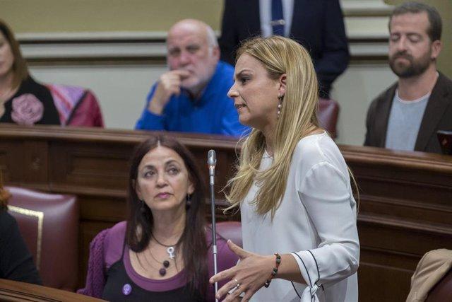 """26M.- Santana (Podemos) reta al PSOE a que diga """"si quiere pactar"""" con CC"""