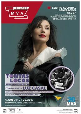 Málaga.- Luz Casal cierra este martes el ciclo 'Ni tontas ni locas. Mujeres en la Cultura del siglo XX' de la Diputación