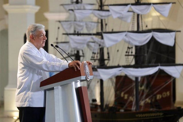 Mexican President press conference in Veracruz