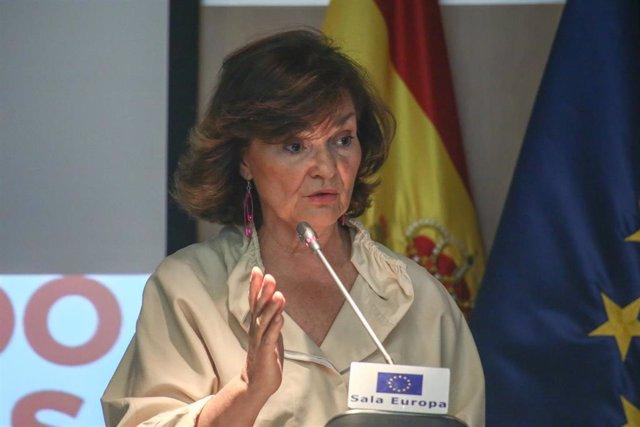 Carmen Calvo preside la clausura de las II Jornada sobre Huérfanos de Violencia de Género
