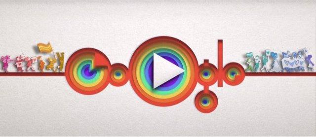 Google celebra el 50 aniversario del Orgullo LGTBI con un colorido 'doodle'