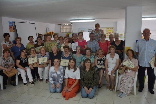 Huelva.- Más de 40 personas mayores participan en Palos de la Frontera en el Taller de la Memoria para fortalecerla