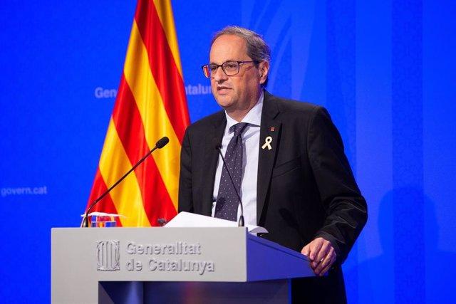 """Torra reivindica haber reactivado Catalunya y la ve """"a punto para vivir en libertad"""""""