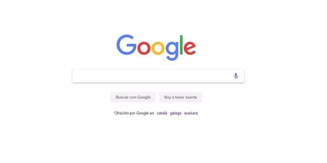 Pantalla principal Google