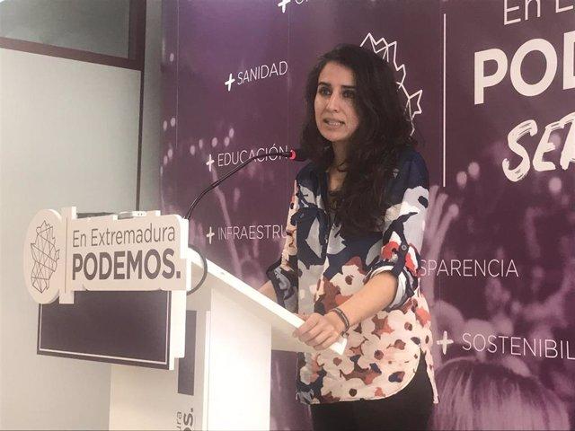 La candidata de Podemos a la Presidencia de la Junta, Irene de Miguel